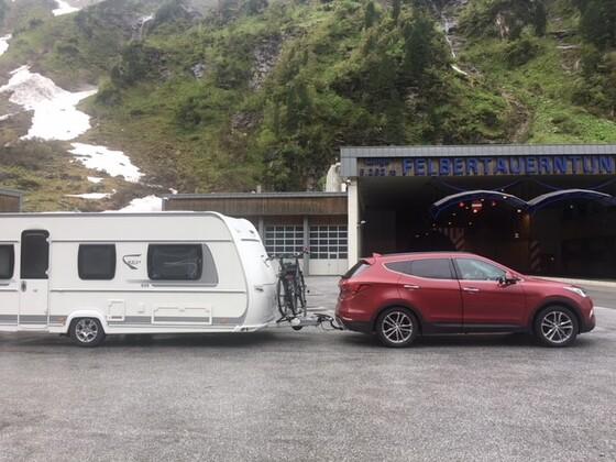 Auf dem weg über die Alpen