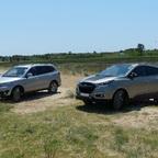 Hyundai-Doppel am Strand bei Nin