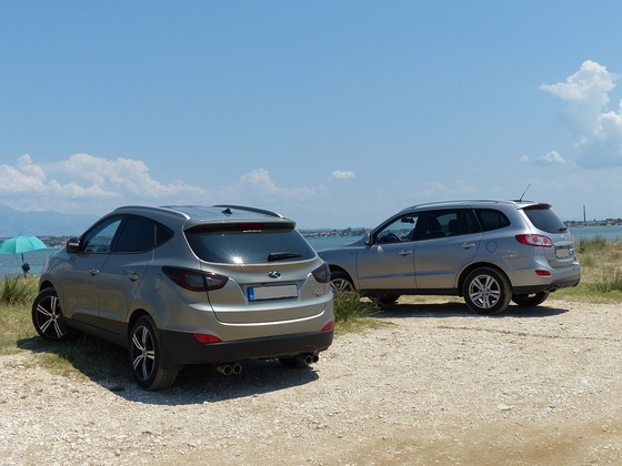 Hyundai Doppel am Strand bei Nin